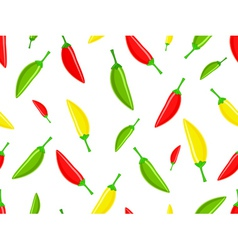 Seamless pattern with hot chili peppers vector