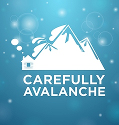 Carefully avalanche on house vector image