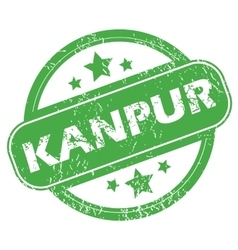 Kanpur green stamp vector