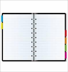 Organizer blank vector