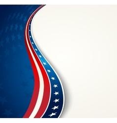American Flag patriotic background vector image