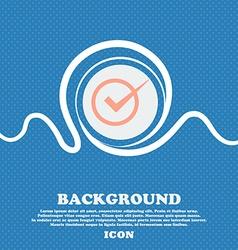 Check mark sign icon checkbox button blue and vector