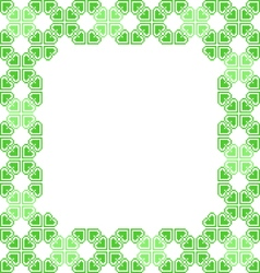 Green frame with abstract patterns vector image