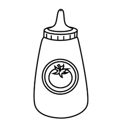 Ketchup in bottle icon vector