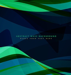 abstract wave background design in dark color vector image vector image