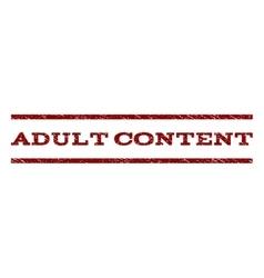 Adult content watermark stamp vector