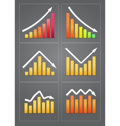 Business revenue charts vector