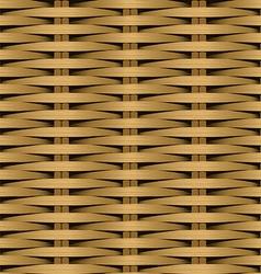 Cane flat woven fiber seamless pattern vector