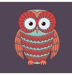 decorative cute owl vector image vector image