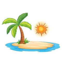 Desert island vector