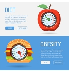Diet and obesity concept vector