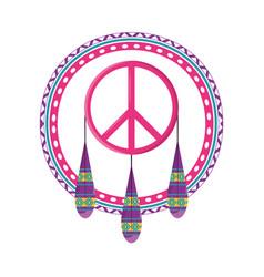 dreamcatcher symbol hippie concept vector image