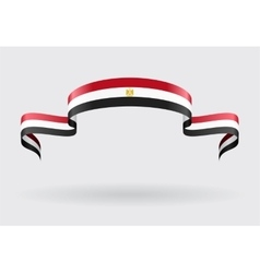 Egyptian flag background vector