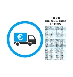 Euro Collector Car Rounded Icon with 1000 Bonus vector image vector image
