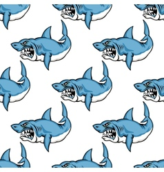 Fierce predatory swimming shark vector