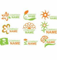 Floral logos vector