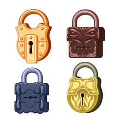 game metal locks vector image
