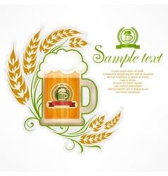Glass mug of beer vector
