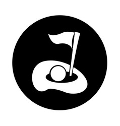 golf hole isolated icon vector image