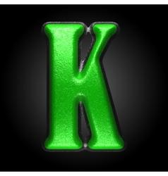 Green plastic figure k vector