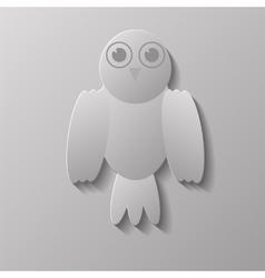 Grey Bird vector image vector image