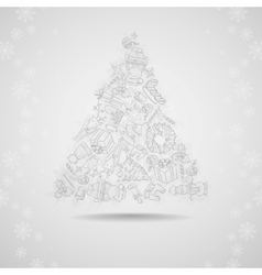 Hand Drawn Christmas Set vector image vector image