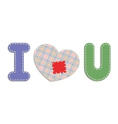 i love you patches vector image vector image
