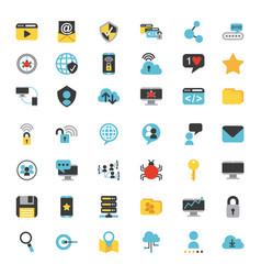 icons set computing vector image