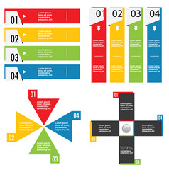 infographic set in color design vector image