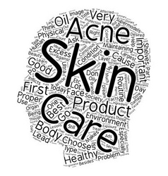 Learn your skin care facts text background vector