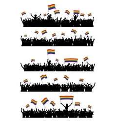 Lgbt cheering crowd vector