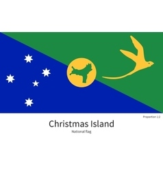 National flag of christmas island with correct vector