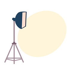 professional photo studio equipment set - camera vector image