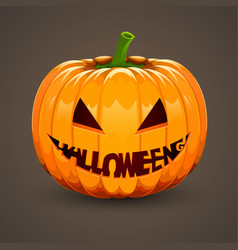 Pumpkin for halloween with text mouth vector