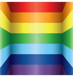 Rainbow colorful background vector image