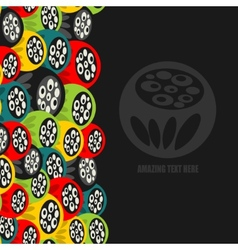 Seamless vertical pattern with strange flowers vector