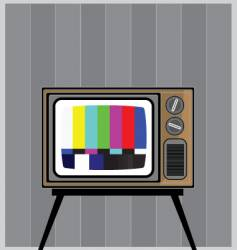 tuning TV vector image