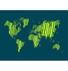 World map of colorful blocks vector