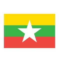 Burma Myanmar flag vector image