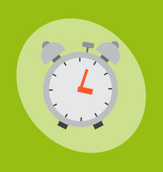 alarm clock circle sign with chronometer pointer vector image