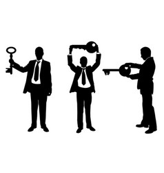 Different people with keys vector