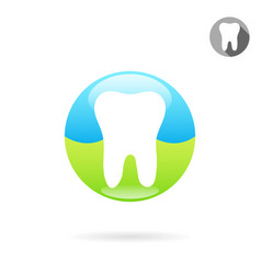 Tooth medical icon concept of a healthy teeth vector