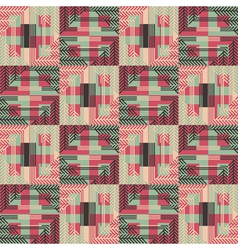 Textured geometric seamless pattern vector