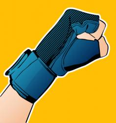 hand in glove vector image
