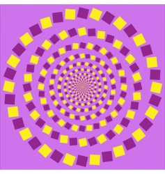Eccentric rotating circle vector