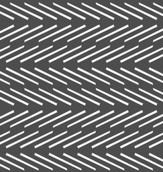 Monochrome pattern with white diagonal short lines vector