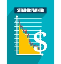 Business strategy and planning vector