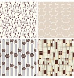Set of abstract textures vector