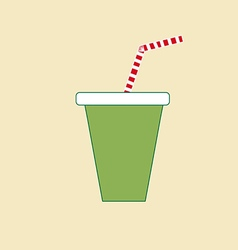 Milkshake drink cocktail icon vector