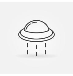 Ufo line icon vector